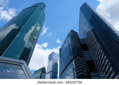Towers of Moscow International Business Center - Euarasia tower, Empire business high-rise, City of Capitals - Moscow Tower and IQ-quarter towers, Moscow, Russia