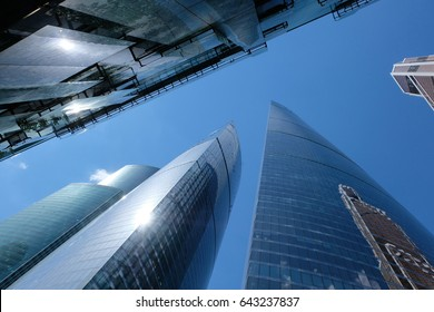 Towers of Moscow International Business Center - Euarasia tower, Federation Tower West and East, Moscow, Russia