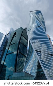 Towers of Moscow International Business Center - City of Capitals - Moscow Tower, Imperia Tower and Evolution Tower - Moscow, Russia
