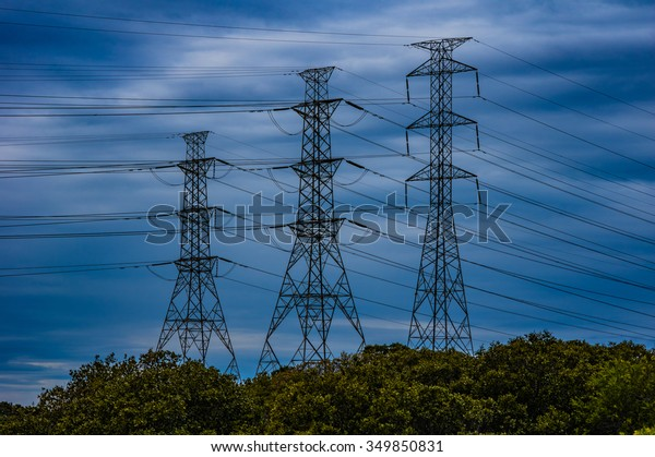 Towers running cables for electricity supply