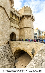 Towers of Serranos (were built 1392-1398 by the architect Pere Balaguer) in Valencia. Spain