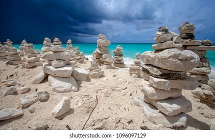 Towers of stones in Cayo Largo
