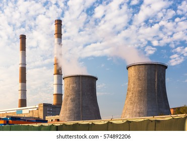 Towers of the thermoelectric plant