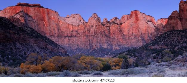 Towers of the Virgin - Zion National Park, Utah