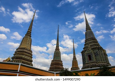 Towers of the Wat Pho Temple in Bangkok, Thailand