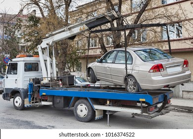 Towing an illegally parked car