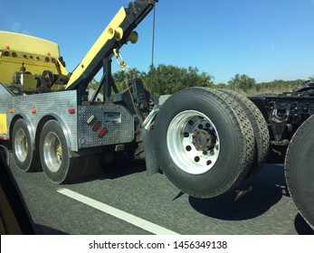 towing a semi on highway