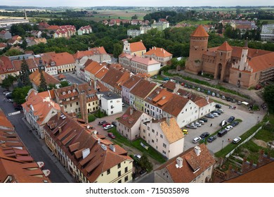 Town, aerial view, building, architecture