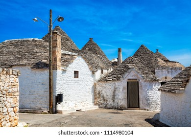 Town of Alberobello, village with Trulli houses in Puglia region, Southern Italy.