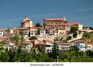 Town of Barolo, Italy. Traditional italian town.