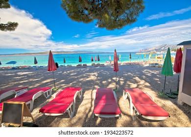 Town of Baska Voda beach and waterfront view, Makarska riviera in Dalmatia, Croatia - Shutterstock ID 1934223572