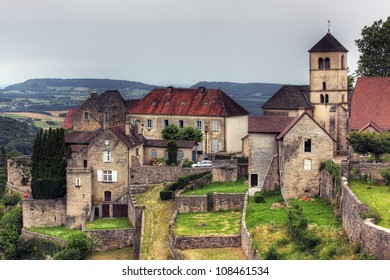 Town at  Baume les Messieurs, Jura - France