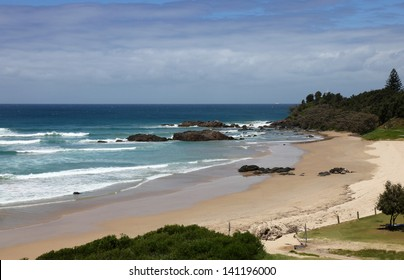Town Beach is located right in the city centre of Port Macqaurie a popular tourist destination on the mid north coast of New South Wales - Australia