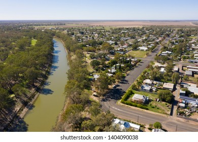 The town of Bourke on the Darling river australia.