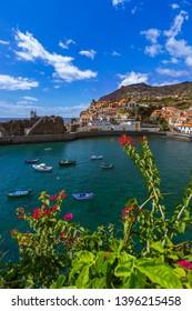 Town Camara de Lobos in Madeira Portugal - travel background