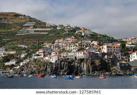 The town Camara de Lobos, at Madeira island, Portugal