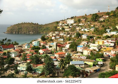 Town of Canaries in St Lucia, Caribbean Islands