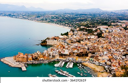 The town of Castellammare del Golfo in the province of Trapani in Sicily, Italy