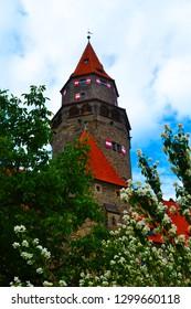 Town in castle Bouzov in Czech Republic