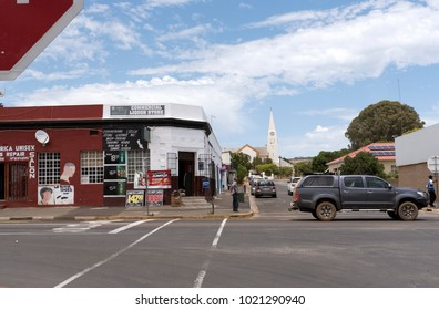 Town centre of Darling in the Western Cape region of South Africa. December 2017