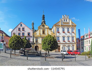 Town Ceska Trebova, Old Square and Town Hall, Czech Republic