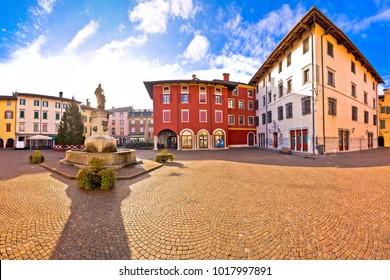 Town of Cividale del Friuli colorful Italian square panoramic view, Friuli-Venezia Giulia region of Italy