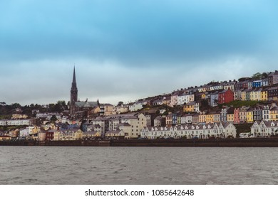 The town of Cobh , which sits on an island in Cork city's harbour, as seen from the sea. It's known as the Titanic's last port of call in 1912