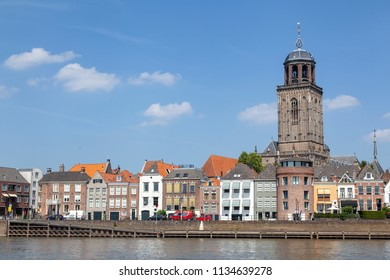Town of Deventer with Lebuinus church, Netherlands