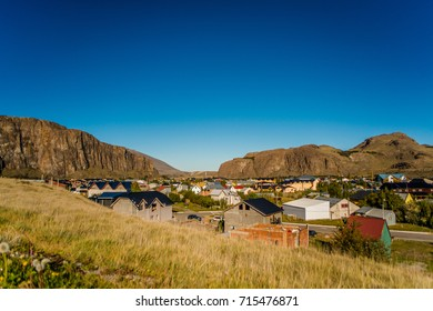 The town, El Chalten, located within a national park in Argentina side of Patagonia.
