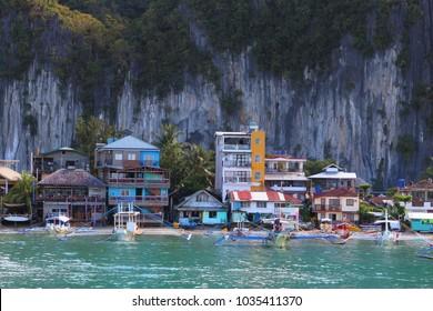 Town of El Nido, Palawan island, Philippines.