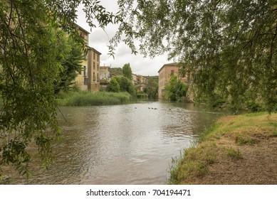 The town of Estella in Navarre, Spain