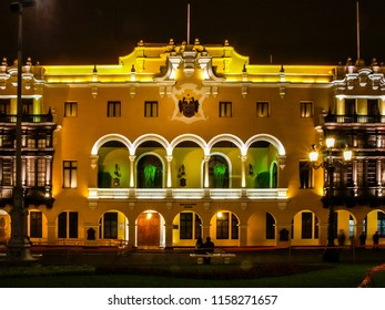 Town hall, aka Palacio Municipal, at Plaza Mayor in Lima, Peru.