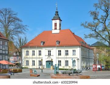 Town Hall of Angermuende in Uckermark,Brandenburg,Germany