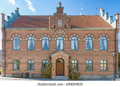 The town hall building situated in the Swedish city of Simrishamn.