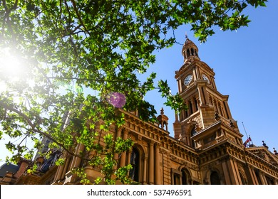 The Town Hall Clock Tower, Sydney