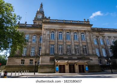 Town hall and entrance to The Albert Halls in Bolton Lancashire July 2020