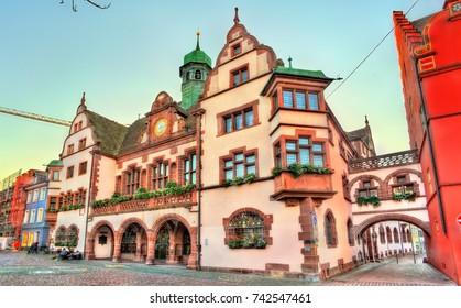 Town hall of Freiburg im Breisgau - Baden-Wurttemberg, Germany
