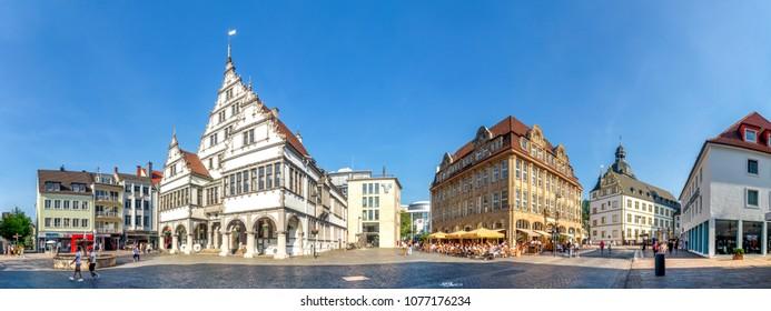 Town hall, Marien Church, Paderborn, Germany