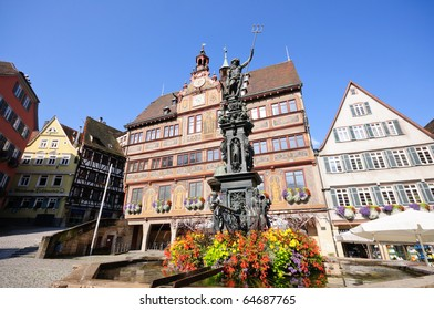 Town Hall and Market Square - T�¼bingen, Germany