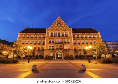 Town Hall (Mestsky Urad) on Main Square in Cesky Tesin. Cesky Tesin, Moravian-Silesian Region, Czech Republic. - Shutterstock ID 581725207