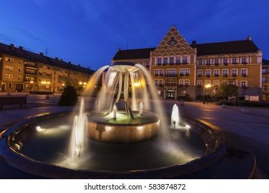 Town Hall (Mestsky Urad) on Main Square in Cesky Tesin. Cesky Tesin, Moravian-Silesian Region, Czech Republic. - Shutterstock ID 583874872