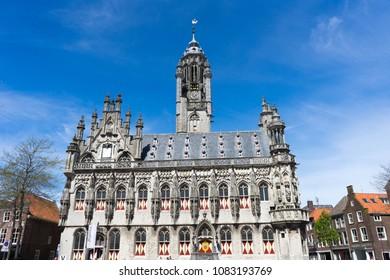 Town hall of Middelburg, Zeeland, Netherlands
