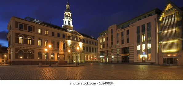 The Town Hall In The Old Town Square, Riga, Latvia