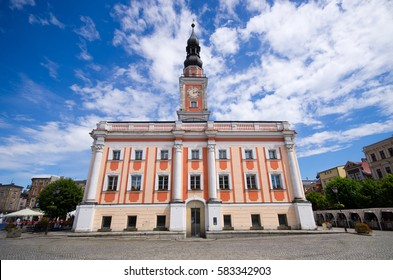 Town hall and square in Leszno - Poland