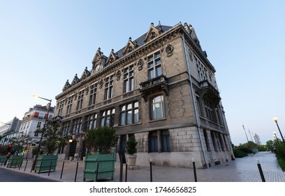 The town hall of Vincennes city at dawn. France. It is listed as historical monument.