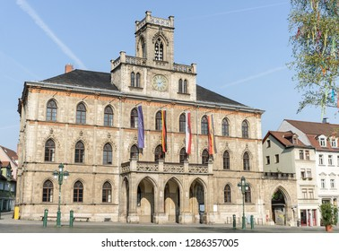 The town hall of Weimar on a sunny day