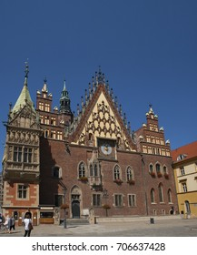 The Town hall of Wroclaw on the Rynek square
