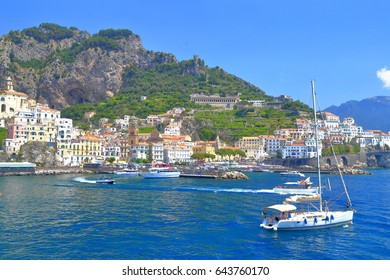 The town and harbor of Amalfi, Amalfi coast, Italy