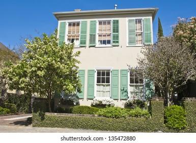 A town house from the early 1800's in  Old Town Charleston, South Carolina.