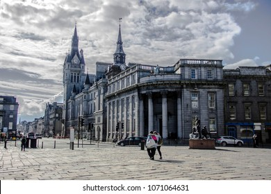 Town House and Union Street, Aberdeen, Scotland, United Kingdom.
